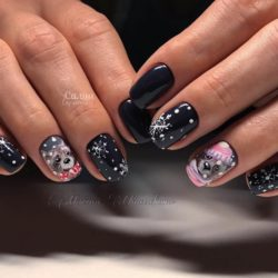 Winter nails 2018 photo