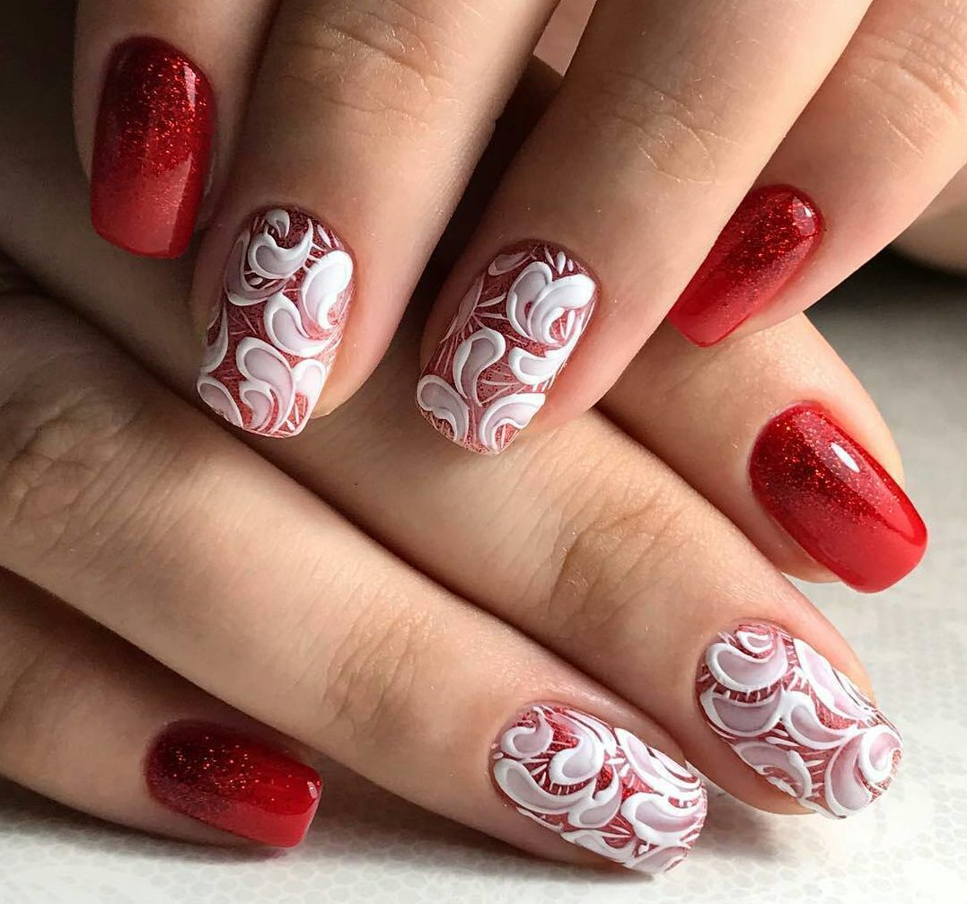 Red and white nails the best images bestartnails red and white nails photo prinsesfo Images