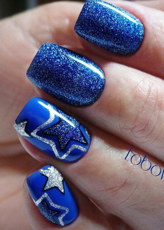 Nails with stars - The Best Images | BestArtNails.com