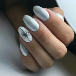 Winter nail art photo