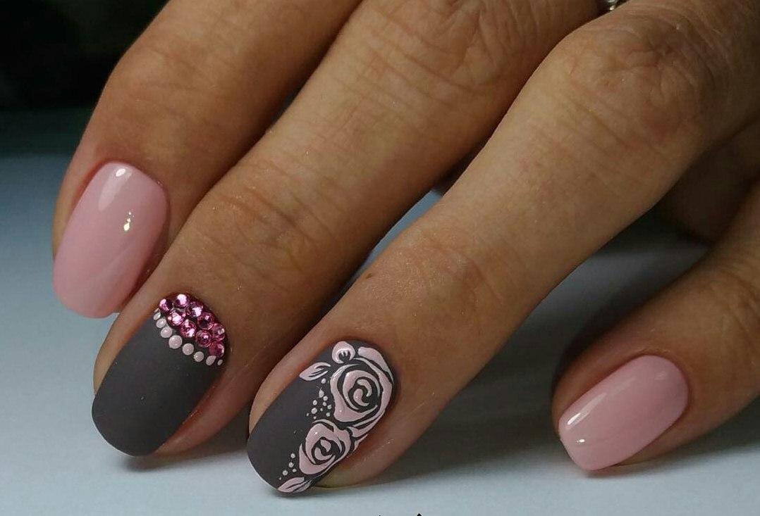 Grey And Pink Nails The Best Images Bestartnails