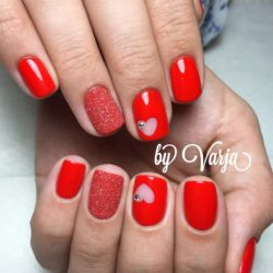Heart nail designs photo