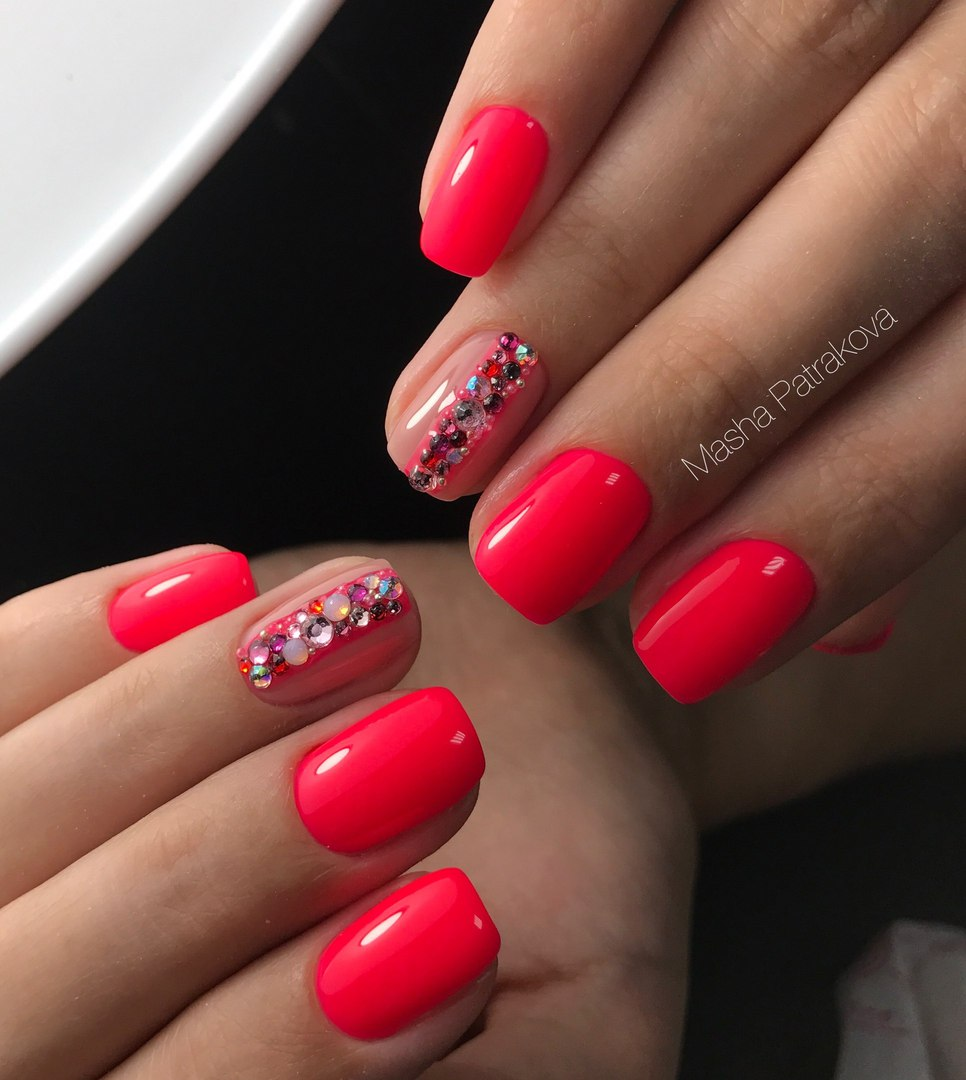 Bright pink nails the best images bestartnails bright pink nails photo prinsesfo Image collections