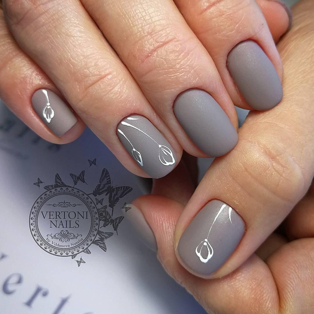 Gray nails - The Best Images | BestArtNails.com