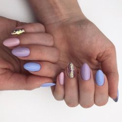 Spring nails by gel polish photo