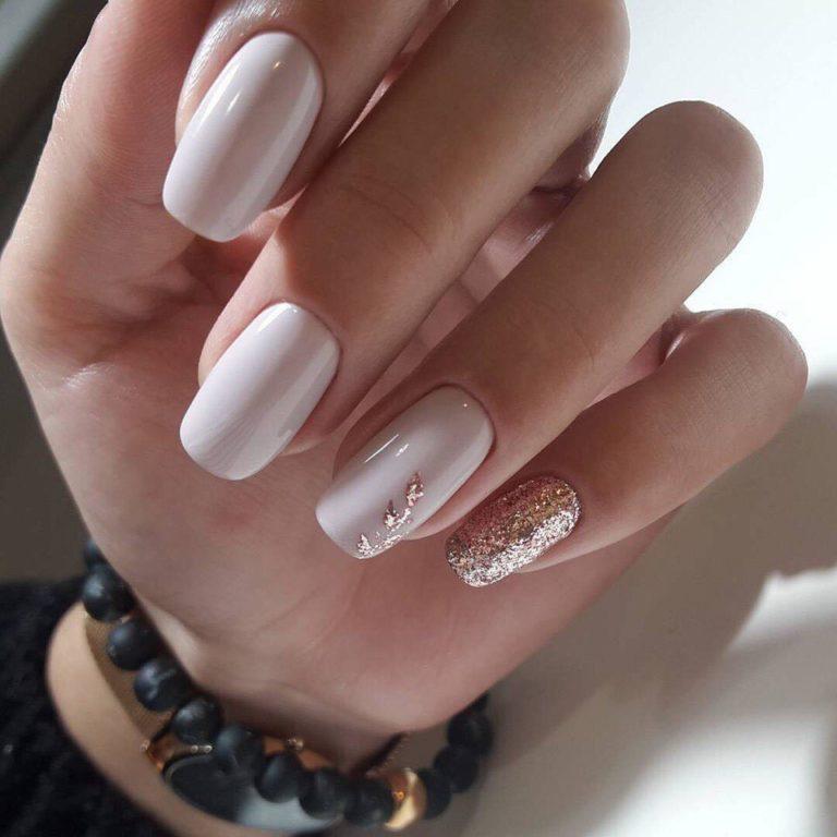 Beautiful white nails