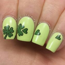 Bright spring nails photo
