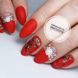 Beautiful red nails photo