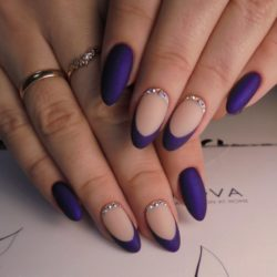 Ideas of violet nails photo