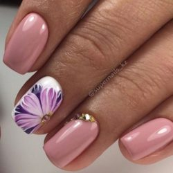 Beautiful pink nails photo