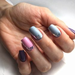 Summer bright nail design photo