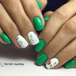 Nails with ladybug photo