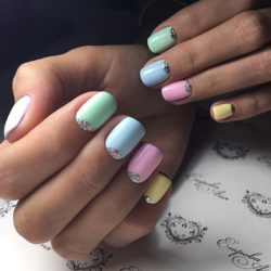 Half-moon nails ideas photo