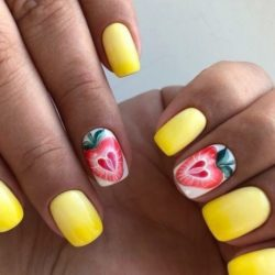 Strawberry nail art photo