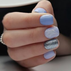 Short blue nails photo