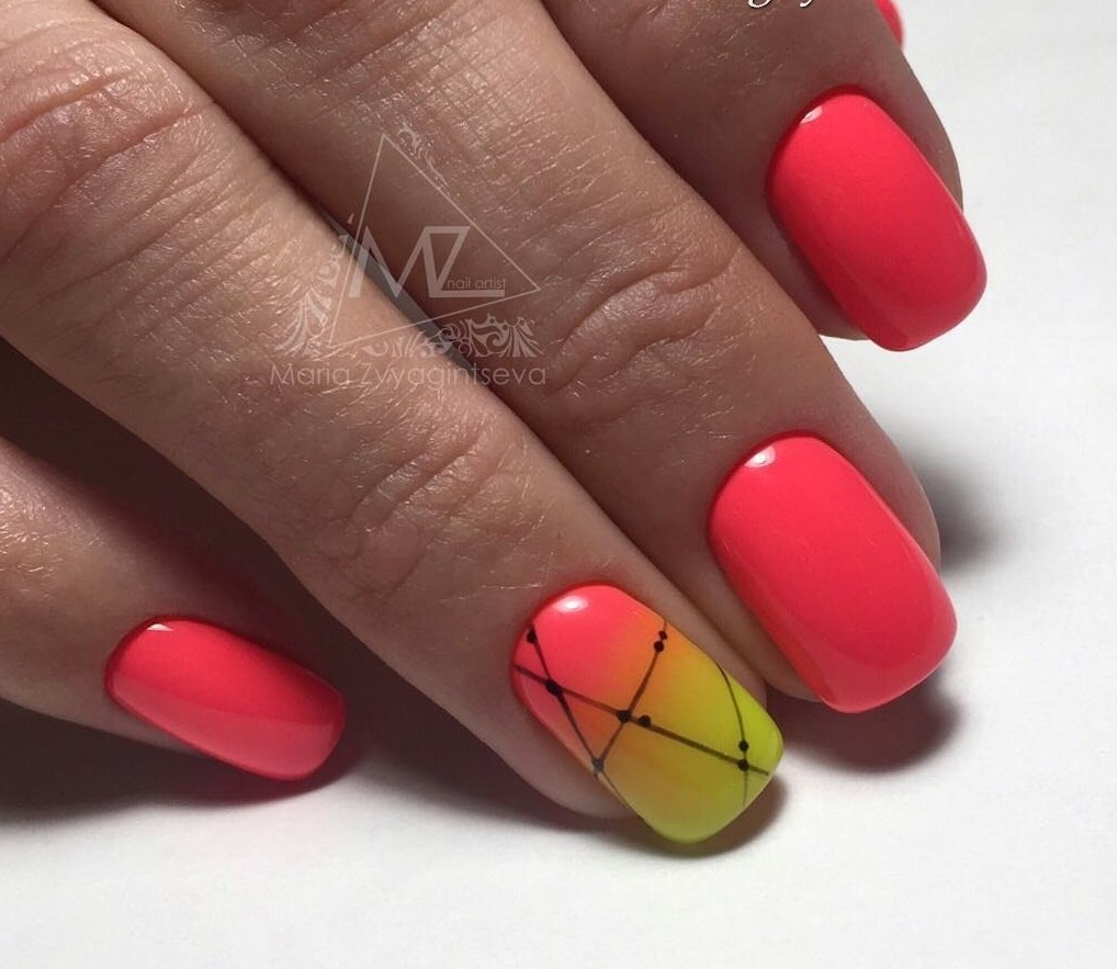 Color transition nails