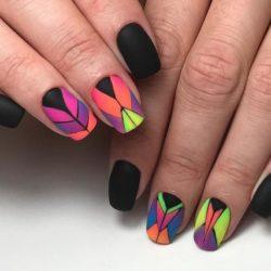 Black nail art photo