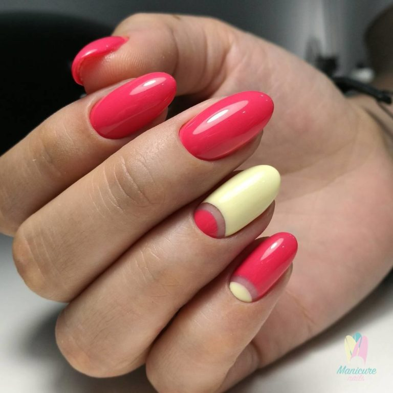 Red and yellow nails