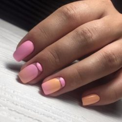 Pink and orange nails photo