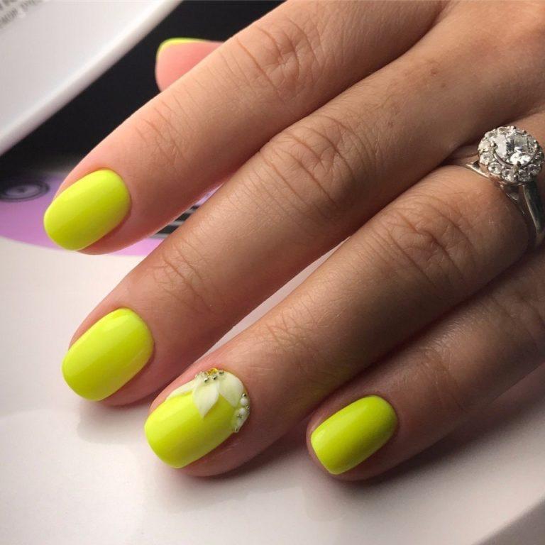 Acid yellow nails