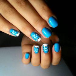 Blue nail art photo