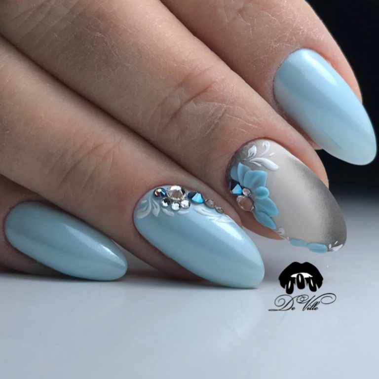 Beautiful delicate nails