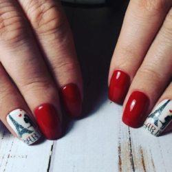 Short nails art photo