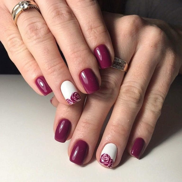 Nails ideas with flowers