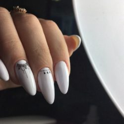 Nails for wedding dress photo