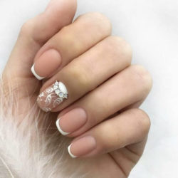 White dress nails photo