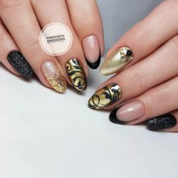 Gold casting nails design photo