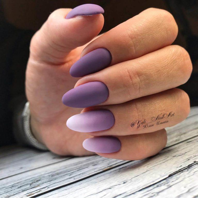 Beautiful purple nails