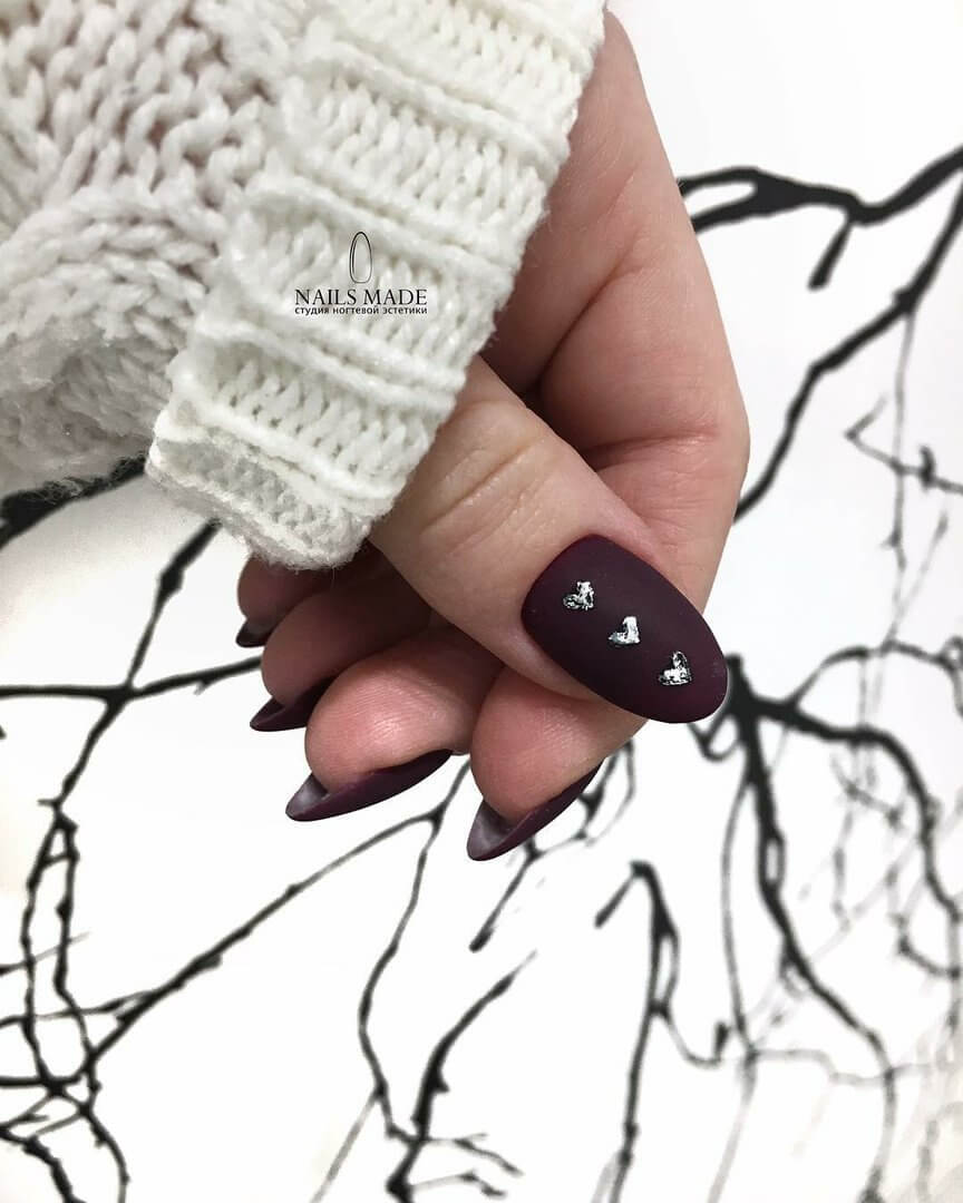 Dark brown nails
