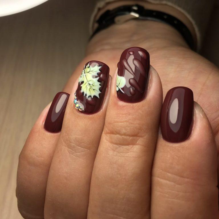 Dark shades nails