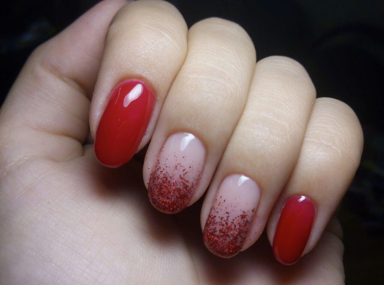 Red shellac nails