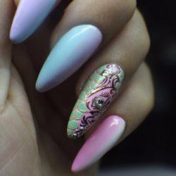 Bright holiday nails photo