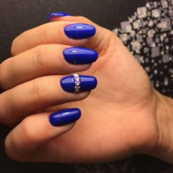 Blue Gel Nail Polish The Best Images Bestartnails Com