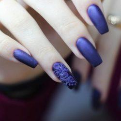Blue nails photo
