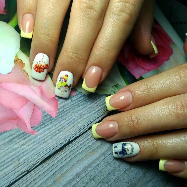 Gentle winter nails