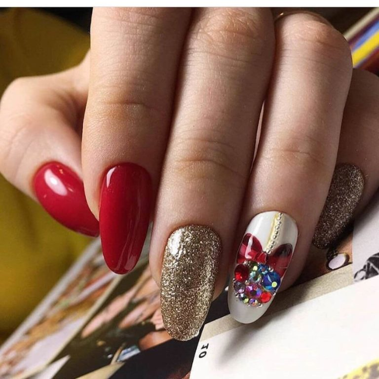 Nails with stones