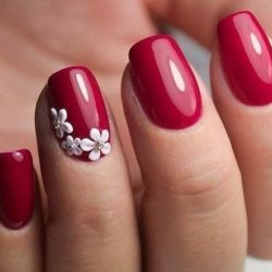 flower nail art photo