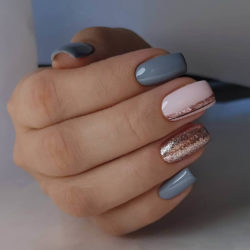 Two color nails photo