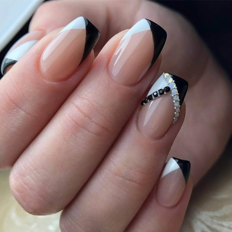 Double french manicure