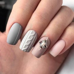 Gray nails - The Best Images | BestArtNails.com