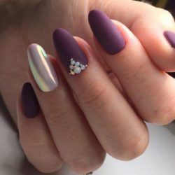Nails with stones photo