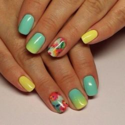 Spring summer nails photo