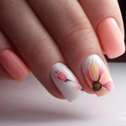 Drawings on nails photo