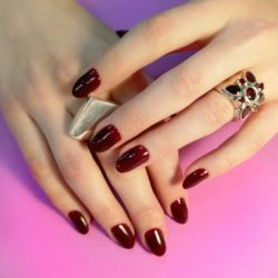 Dark spring nails photo