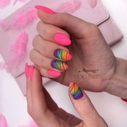 Gradient nails photo
