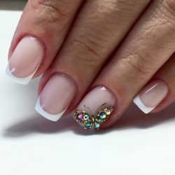 French manicure with pictures photo